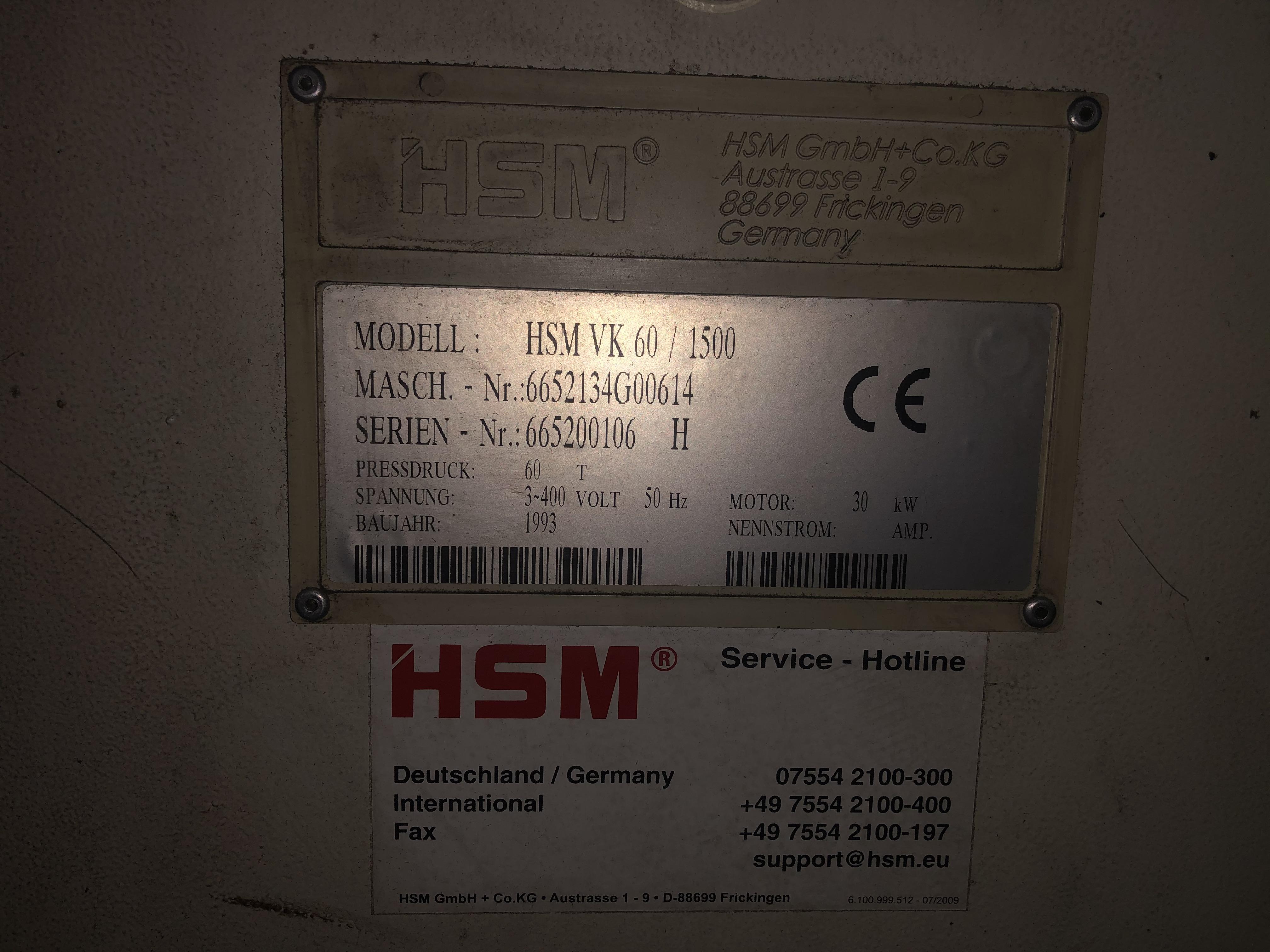 HSM VK60/1500